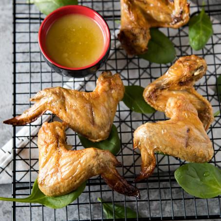Vištienos sparneliai su citrinų padažu