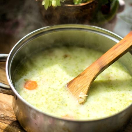 Salierų ir kukurūzų sriuba