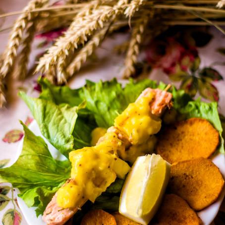 Lašiša su mangų padažu