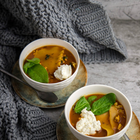 Lazanijos sriuba