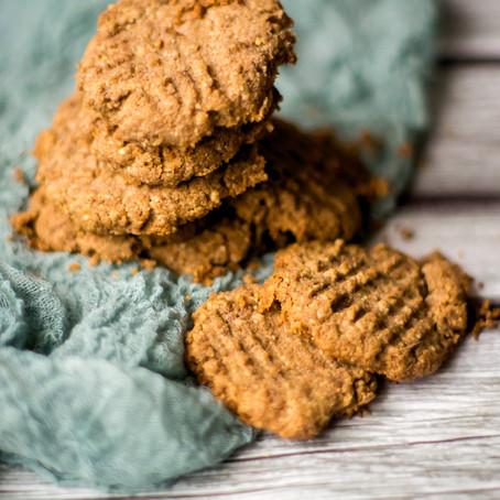 Žemės riešutų sausainiai iš 4 ingredientų