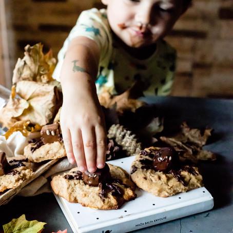 Moliūgų sausainiai su voriukais