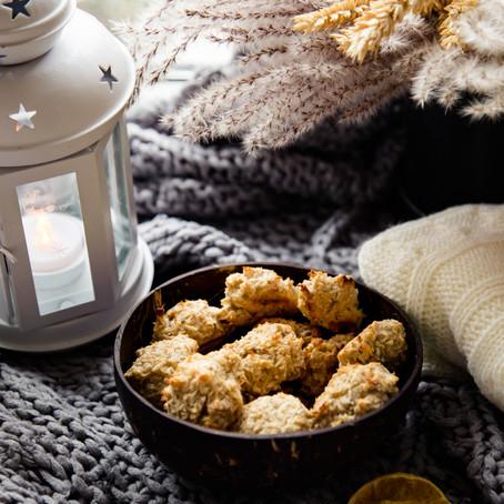 Kokosiniai sausainiai be pridėtinio cukraus