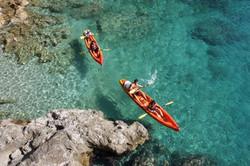 Kayak in beautiful Croatian waters