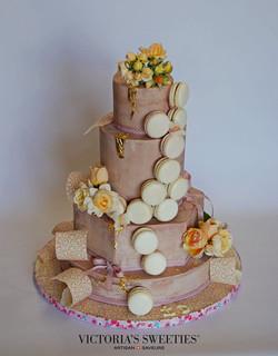 Organic Macaroon Wedding cake Ruby