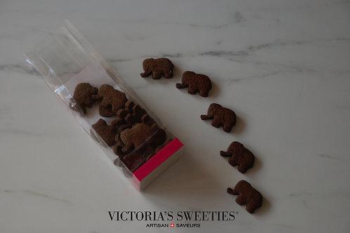 Biscuits éléphant petit épeautre-cacao-wasabi