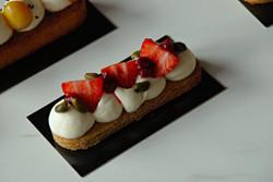 Tarte fraises pistaches