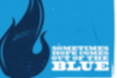 Christmas Blue logo: Sometimes hope comes out of the blue...