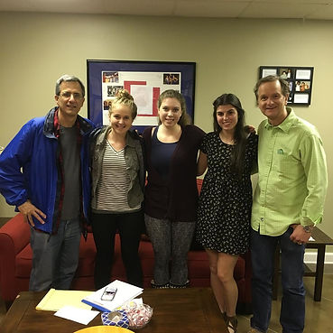 "Quinn and fellow castmates and director of ""Remember the Goal"" at a radio interview with Nashville Film Radio"