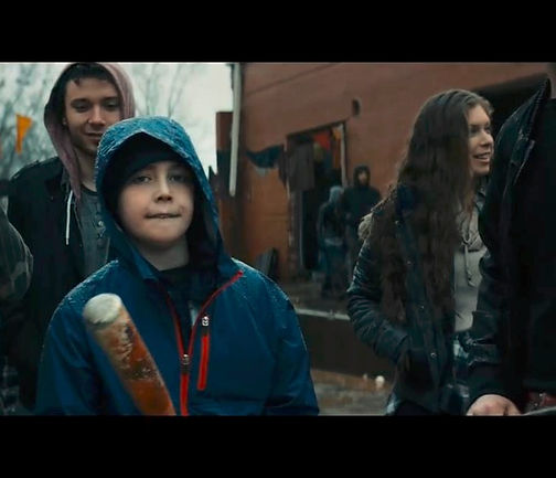 "A shot of Quinn in Skrillex's ""Stranger"" Official Music Video"