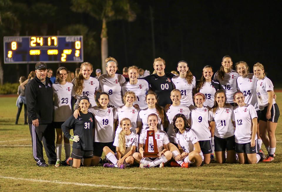 ecs girls varsity soccer team 2016