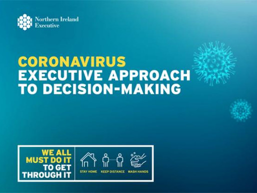 NI Executive publishes Coronavirus recovery strategy
