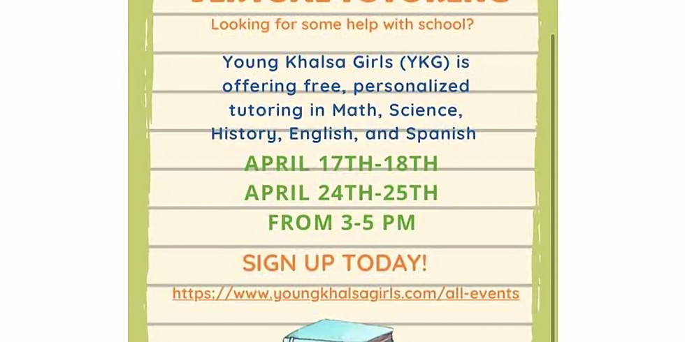 Virtual Tutoring 17th-18th April