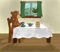 His favourite honey tea