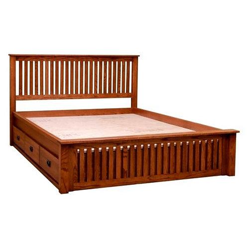 Urban king Queen Size Bed Teak Wood