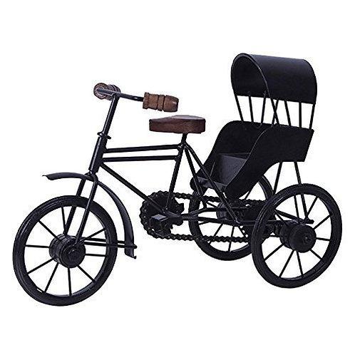 Urban King Wrought Iron & Wooden Cycle Rickshaw