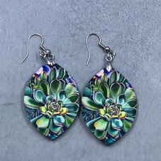 Succulant drop earrings $12.00