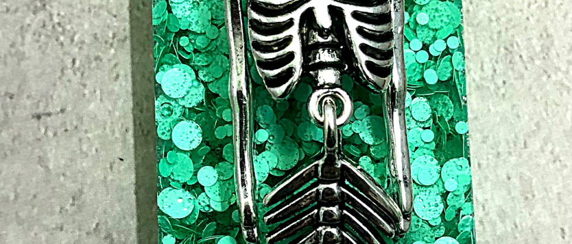 Skeleton Mermaid Pendant