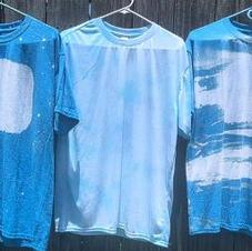 Bleach effect shirts.  $25.00