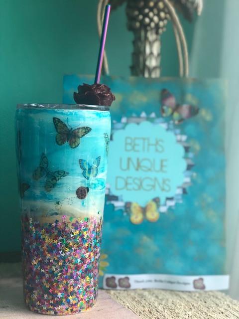 Chunky Glitter Tumbler Package