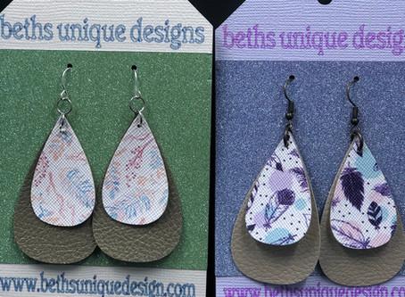 Leather earrings!!