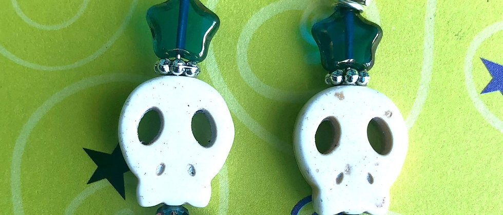 Spooky Skull Earrings
