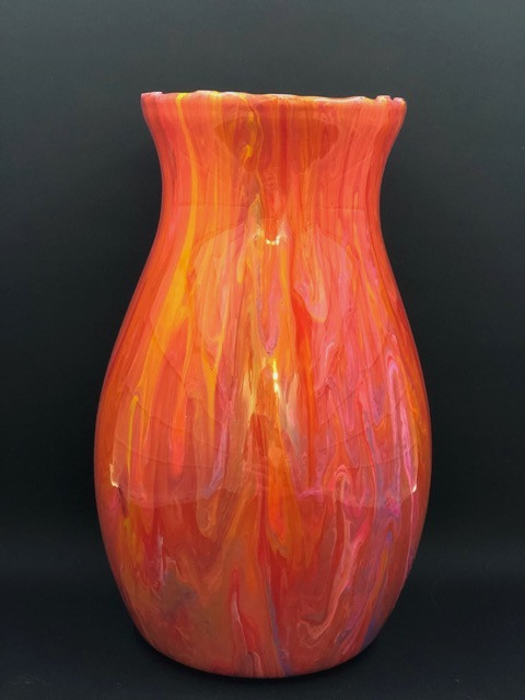 Paint Pour Vase