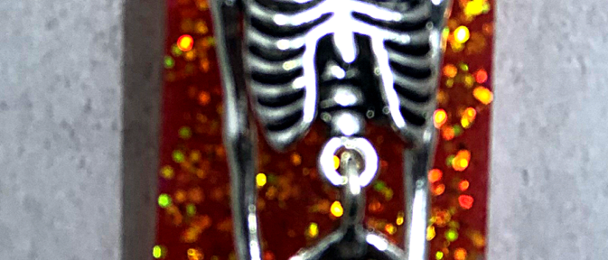 Mermaid Skeleton Pendant