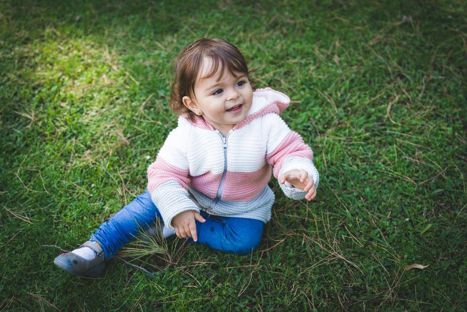 niña en el Parque Pedralbes