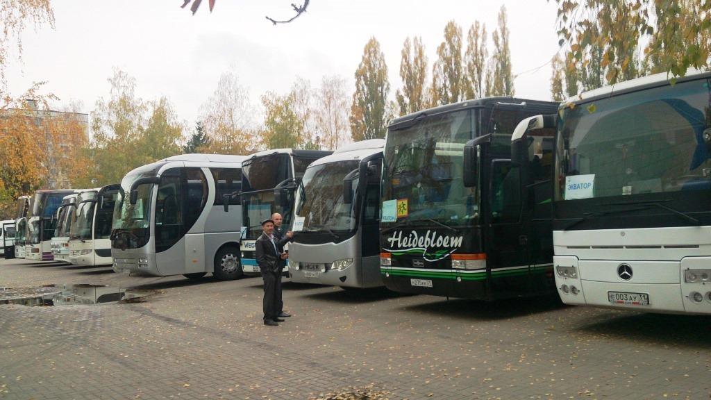 Большой парк автобусов