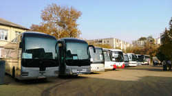 Большой автобусный парк