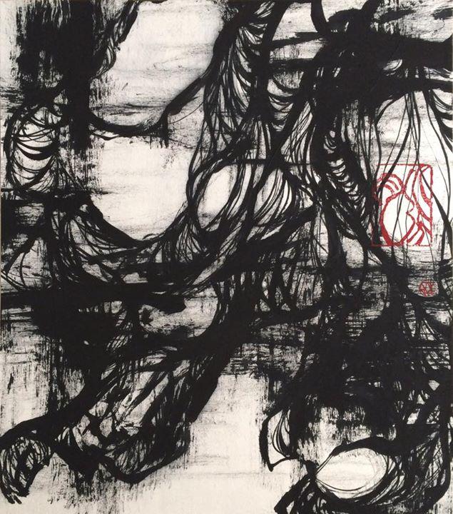 脈−葉  Withered lotus-leaf