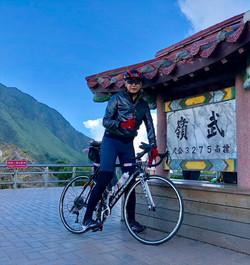 Steven enjoys cycling