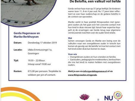 Lezing 17 oktober 2019 in Groningen