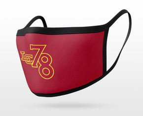 Burgundy LC 7/8 Mask