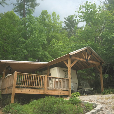 RV shed and deck