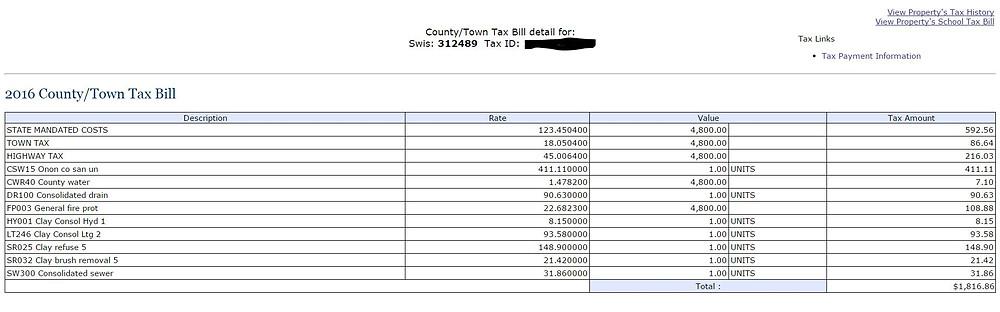 Onondaga County Tax Bill