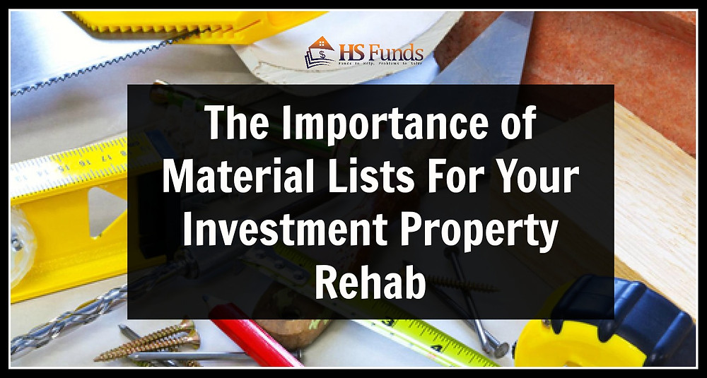 Material Lists Property Renovation