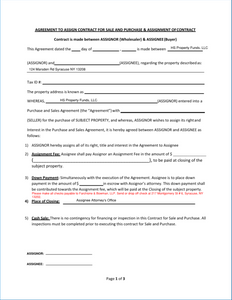 Assignment Contract Real Estate