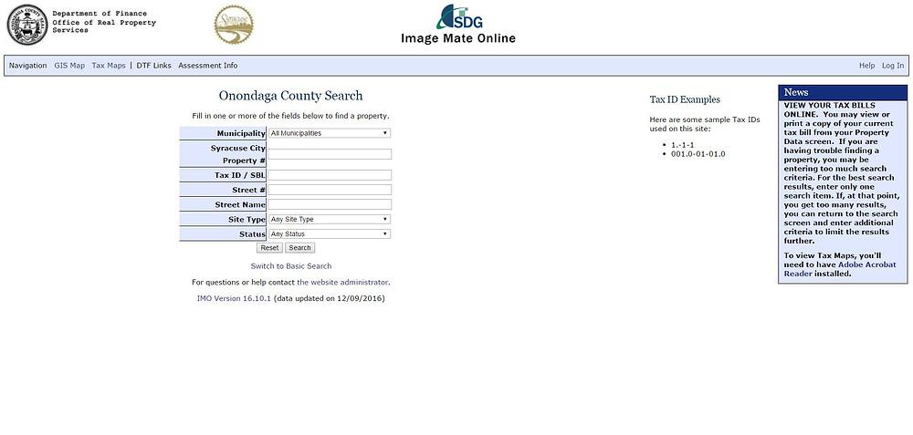 Onondaga County Tax Search