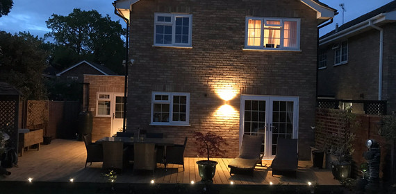 New decking, ambient lighting and new seating all set for summer