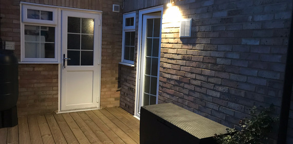 Decking accessories installed and new lighting installed