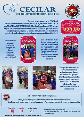 Divulgação Projeto Dare 3a Compra Mensal