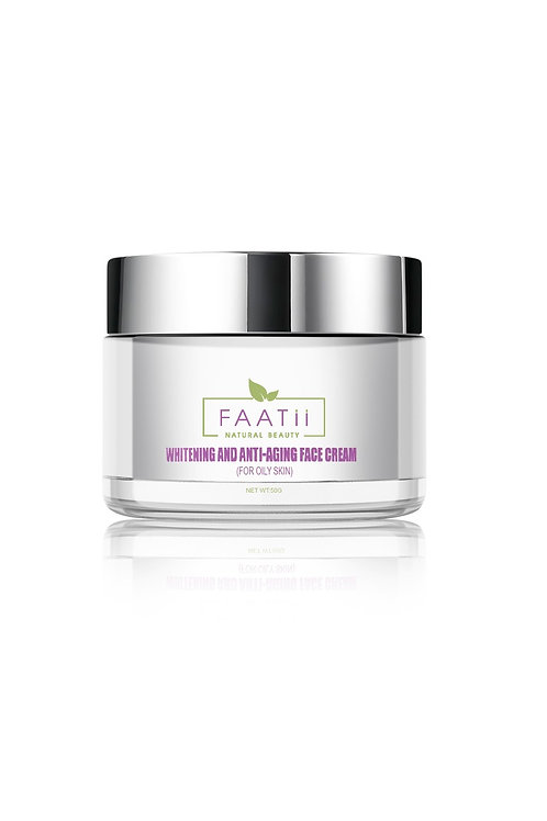 Whitening anti-aging face cream (for oily ).