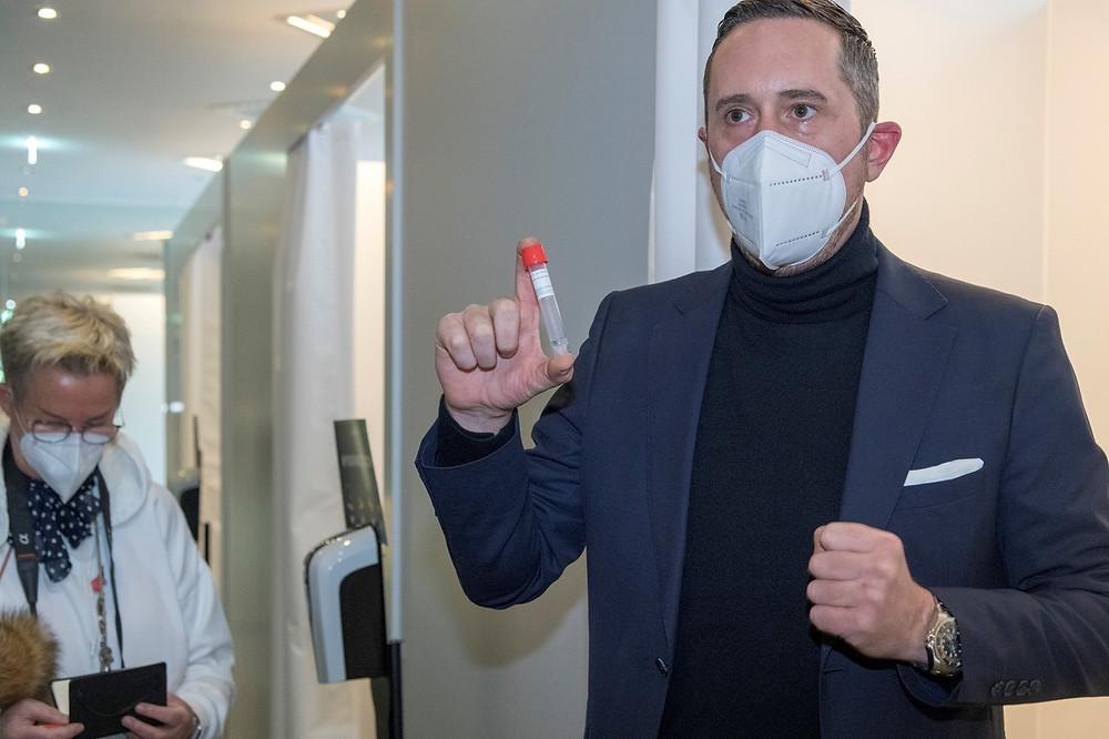 Jan Wagner, Geschäftsführer von Easy BioMed betreibt die Corona-Teststation