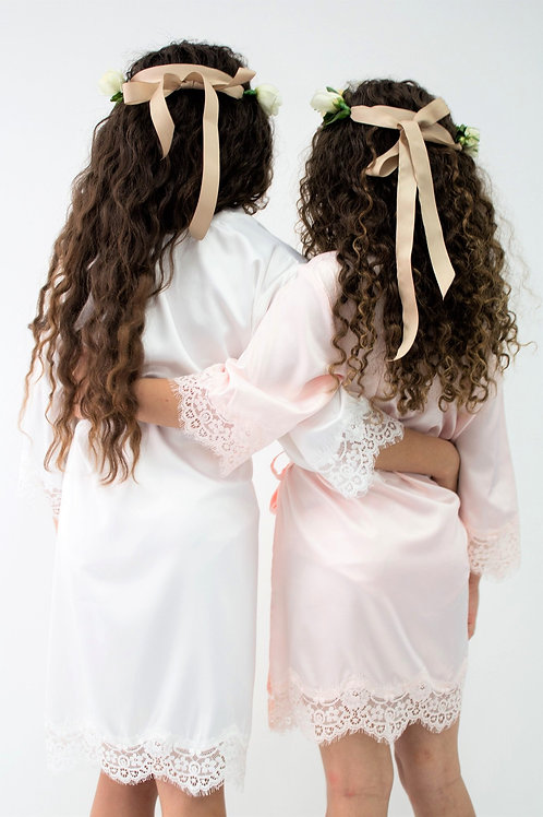 SATIN OR COTTON FLOWER GIRL ROBES