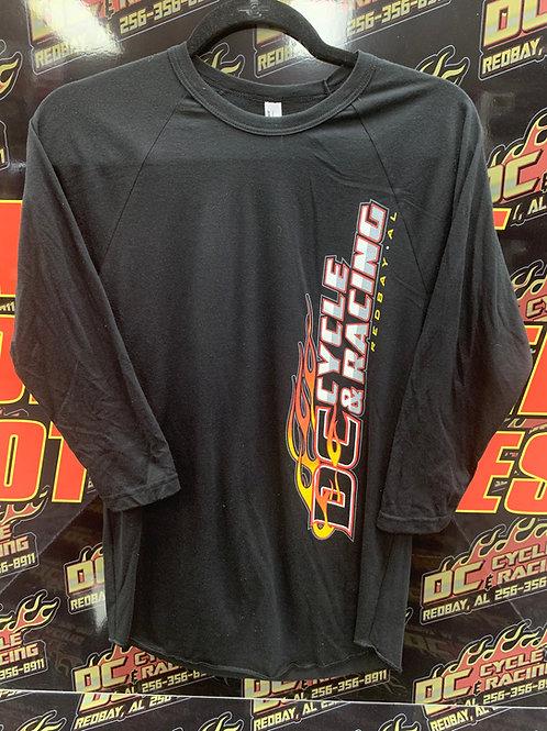 DC Cycle & Racing 3/4 Sleeve Baseball Tee