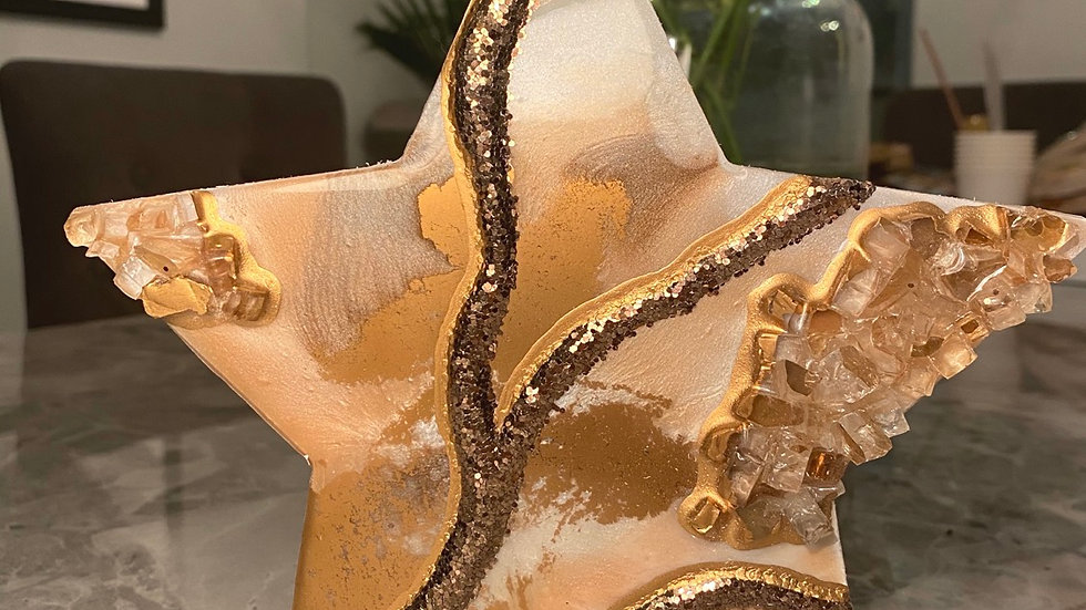 Free Standing Stars - Rose Gold Marble