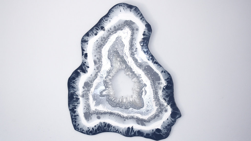 Wall Geode with Quartz Crystal Detail