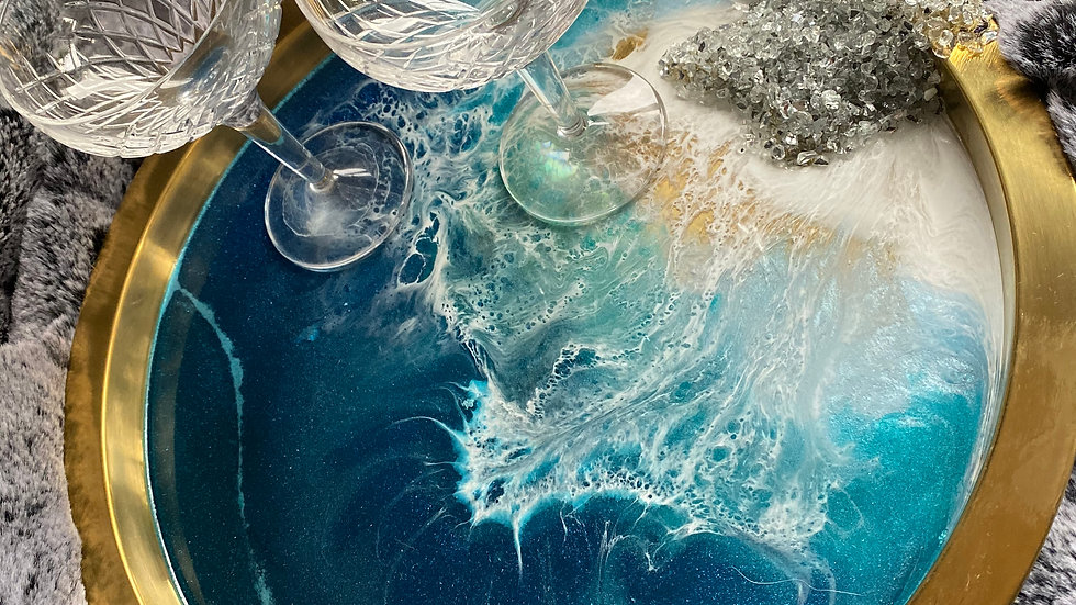 Pre Order - Tray - Crystal Waves Seascape